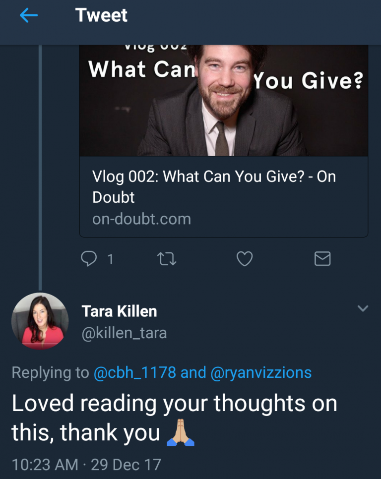 OnDoubt_Engagement_Twitter_TaraKillen